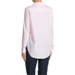 Frank Classic Poplin Stripe Blouse - Pink - Frank & Eileen Tops found on MODAPINS from lyst.com for USD $80.00