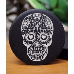 Etchey Cellular Phone Cases BLACK - Sugar Skull Phone Grip found on Bargain Bro from zulily.com for USD $9.11