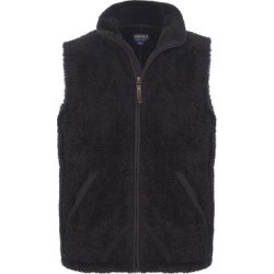 Smith's Workwear Men's Outerwear Vests BLACK - Black Sherpa Full-Zip Vest - Men found on Bargain Bro Philippines from zulily.com for $14.99