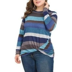 petite Women's Tunics Casual Long Sleeve T-Shirt Tops Twist Knot Front Tunics (02 - XS)(rayon) found on Bargain Bro Philippines from Overstock for $34.56