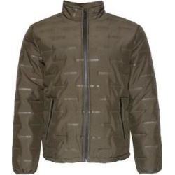 Mens Puffer Zipper Jacket Warm Lining Mechanical Stretch Zip Front Pockets (Olive - M), Men's, Green found on MODAPINS from Overstock for USD $39.16