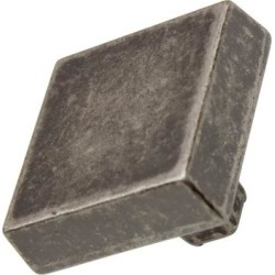 GlideRite 5-Pack 1-1/8 in. Weathered Nickel Square Cabinet Knobs - Weathered Nickel found on Bargain Bro from Overstock for USD $5.69