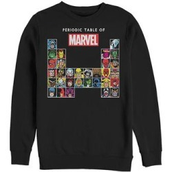Fifth Sun Men's Sweatshirts and Hoodies BLACK - Marvel Black Periodic Table Long-Sleeve Tee - Men found on Bargain Bro from zulily.com for USD $18.99