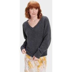 Paula V Neck Sweater Polyester - Gray - Ugg Knitwear found on Bargain Bro India from lyst.com for $88.00