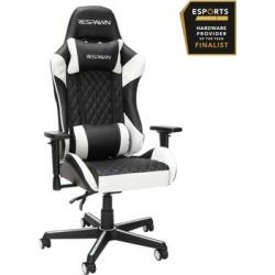 RESPAWN 100 Racing Style Gaming Chair in White - OFM RSP-100-WHT found on Bargain Bro Philippines from totally furniture for $245.97