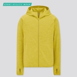 UNIQLO Men's Dry-Ex Uv Protection Full-Zip Hoodie, Green, XS found on Bargain Bro India from Uniqlo for $29.90