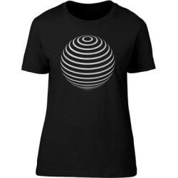 Striped Sphere Abstract Tee Men's -Image by Shutterstock (S), Black found on Bargain Bro from Overstock for USD $11.39