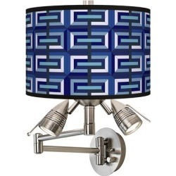 Parquet Giclee Plug-In Swing Arm Wall Lamp found on Bargain Bro from LAMPS PLUS for USD $129.19