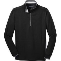 Nike Men's Dri-FIT 1/2-Zip Warm Up Jacket (Black/ Dark Grey/ White - XL)(knit, Solid) found on Bargain Bro from Overstock for USD $58.51