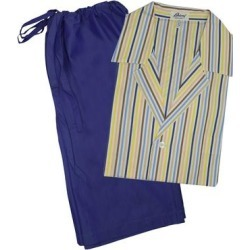 Brioni Mens Multi Colored Striped Shorts Pajamas (S), Men's, Blue(Leather) found on MODAPINS from Overstock for USD $199.00
