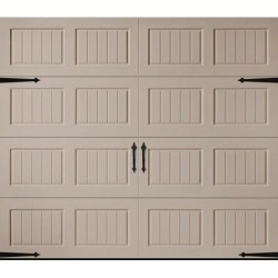 Amarr Hillcrest 3138 Carriage House Garage Door - Short Bead Board Panel Design - Sandtone 8 x 7 No Window found on Bargain Bro from samsclub.com for USD $664.24