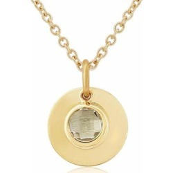Bali 9ct Gold April Birthstone Necklace White Topaz - Metallic - Auree Jewellery Necklaces found on Bargain Bro from lyst.com for USD $543.40