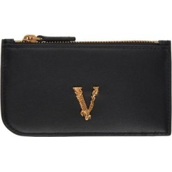 Black Vitrus Zip Card Holder - Black - Versace Wallets found on Bargain Bro from lyst.com for USD $247.00