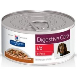 Hill's Prescription Diet i/d Digestive Care Stress Rice, Vegetable & Chicken Stew Canned Dog Food, 5.5-oz, case of 24 found on Bargain Bro India from Chewy.com for $58.99