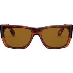 54mm Wayfarer Sunglasses - Havana Stripe/ Brown - Brown - Ray-Ban Sunglasses found on Bargain Bro Philippines from lyst.com for $183.00