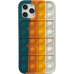 Shou Cellular Phone Cases Navy - Navy & White Rainbow Silicone Smartphone Case found on Bargain Bro Philippines from zulily.com for $9.99