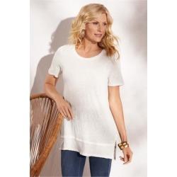 Women Laetitia T-Shirt by Soft Surroundings, in Marshmallow size 1X (18-20)