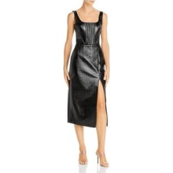 David Koma Womens Black Sleeveless Midi Sheath Cocktail Dress Size 8 (Black - 8), Women's(Cotton, Solid) found on MODAPINS from Overstock for USD $241.19