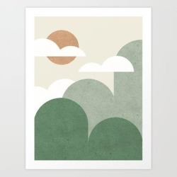 Art Print | Mountains And Clouds by Moonlightprint - X-Small - Society6 found on Bargain Bro India from Society6 for $19.99