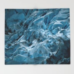 Blue Ice Glacier In Norway - Landscape Photography Bed Throw Blanket by Michael Schauer - 51
