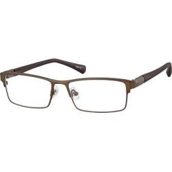 Zenni Men's Classic Rectangle Prescription Glasses Brown Titanium Frame found on Bargain Bro from Zenni Optical for USD $27.32