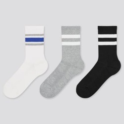 UNIQLO Kid's Regular Socks (3 Pairs), Off White, 3-8 Y found on Bargain Bro from Uniqlo for USD $6.00