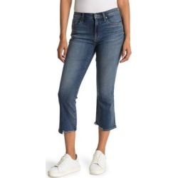 Cassia Raw Hem Crop Jeans - Blue - Edwin Jeans found on MODAPINS from lyst.com for USD $70.00