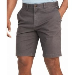 Tommy Hilfiger Mens Shorts Gray Size 33 Stretch Flat-Front Chinos (33), Men's(cotton) found on Bargain Bro from Overstock for USD $21.26