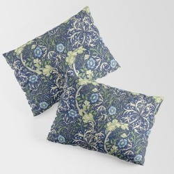 Pillow Sham | William Morris Blue Daisies by Vintage Restored Art - STANDARD SET OF 2 - Cotton - Society6 found on Bargain Bro from Society6 for USD $30.39