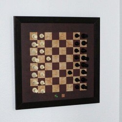 Home Magnetics Handmade Chess Board GameSolid Wood in Brown/Green, Size 4.0 H x 18.0 W x 18.0 D in   Wayfair HM-CHS1616-CLA found on Bargain Bro Philippines from Wayfair for $55.99