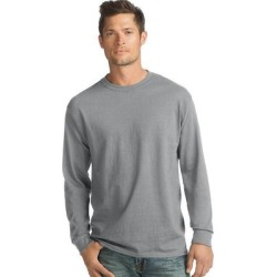Hanes ComfortSoft Men's Long-Sleeve T-Shirt 4-Pack - Color - Light Steel - Size - M - Light Steel (Light Steel - M), Light Silver found on Bargain Bro India from Overstock for $25.31