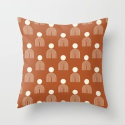 Couch Throw Pillow | Full Moon Rainbow Pattern Collection Ss02 by Grace - Cover (16