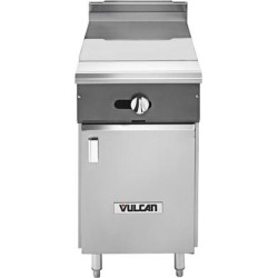 """Vulcan V112HB-NAT V Series Natural Gas Heavy-Duty Range with 12"""" Hot Top and Cabinet Base - 30,000 BTU"""