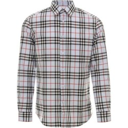 Vintage Check Buttoned Shirt - Gray - Burberry Shirts found on Bargain Bro from lyst.com for USD $271.32