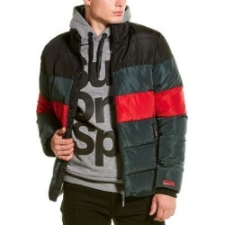 Superdry Color Stripe Sports Puffer Jacket (M), Men's, Green(polyester) found on Bargain Bro India from Overstock for $60.49