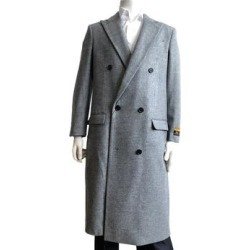 Mens Camel Fur Collar Overcoat Full Length Belted Falcone Vance 4150-068 By Alberto Nardoni Brand Designer (S - Blue/Black), Men's found on MODAPINS from Overstock for USD $179.99