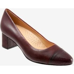 Women's Kiki Pump by Trotters in Burgundy (Size 7 1/2 M) found on Bargain Bro India from Woman Within for $109.99