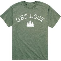 Instant Message Mens Men's Tee Shirts HEATHER - Heather Military Green 'Get Lost' Forest Tee - Men found on Bargain Bro India from zulily.com for $16.99