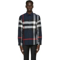 Navy Slim Somerton Check Shirt - Blue - Burberry Shirts found on Bargain Bro from lyst.com for USD $357.20