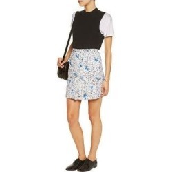 Carven Womens Wrap-effect Printed Cloqué Mini Skirt US 10 / UK 12/ IT 46 White (10), Women's found on MODAPINS from Overstock for USD $158.05