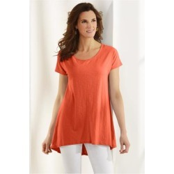 Women Calissa T-Shirt by Soft Surroundings, in Paprika size 1X (18-20)