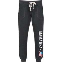 Instant Message Women's Women's Sweatpants HEATHER - Heather Charcoal 'Mama Bear' USA Flag Joggers - Women, Juniors & Plus found on Bargain Bro Philippines from zulily.com for $19.99