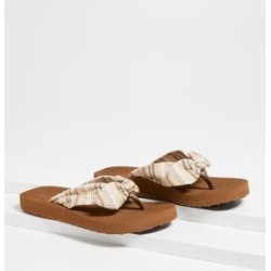 Maurices Womens Leah Taupe Stripe Flip Flop Brown - Size 6 found on Bargain Bro from Maurices for USD $15.12