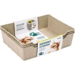 EcoPetBox Disposable Cat Litter Box, 3 count found on Bargain Bro India from Chewy.com for $9.99