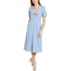 Lost Wander Let It Rain Midi Dress (M), Women's, Blue(denim) found on Bargain Bro from Overstock for USD $38.45