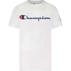 Champion Boys' Tee Shirts WHITE - White 'Champion' Classic Script Tee - Toddler & Boys found on Bargain Bro from zulily.com for USD $6.07