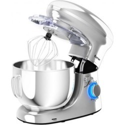 Costway 6.3 Quart Tilt-Head Food Stand Mixer 6 Speed 660W-Silver found on Bargain Bro Philippines from Costway for $114.95