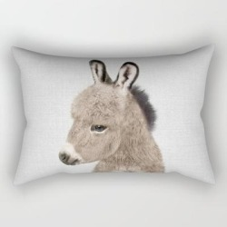 Rectangular Pillow | Donkey - Colorful by Gal Design - Small (17