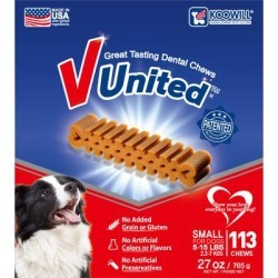 Koowill V United Patented Great Tasting Small Dental Chew for Dogs, 27 oz. found on Bargain Bro Philippines from petco.com for $20.18