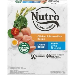 Nutro Natural Choice Chicken & Brown Rice Recipe Large Breed Puppy Dry Dog Food, 30 lbs.